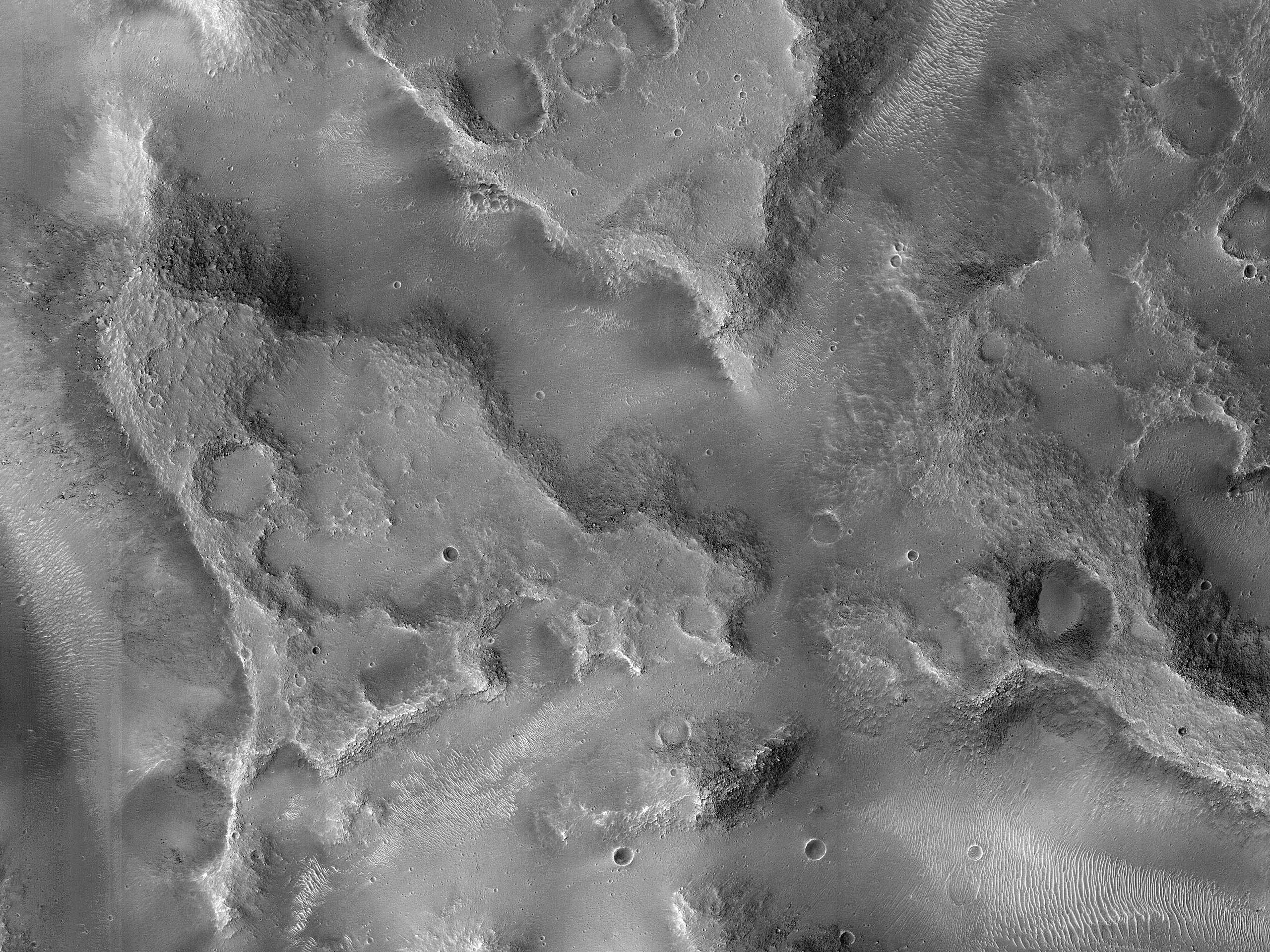 Fractured Blocks on a Crater Floor