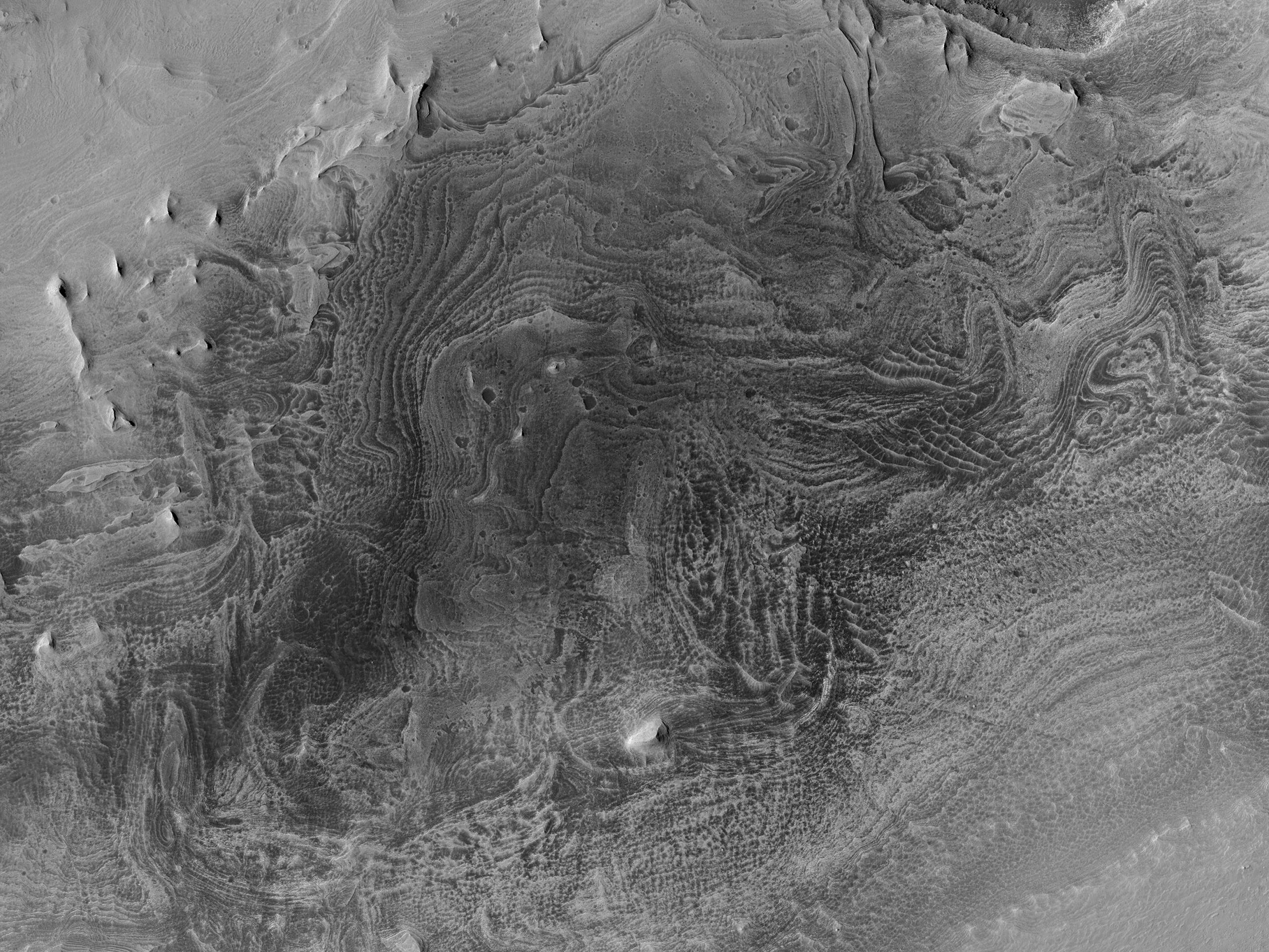 Layer Exposure in High Thermal Inertia Terrain