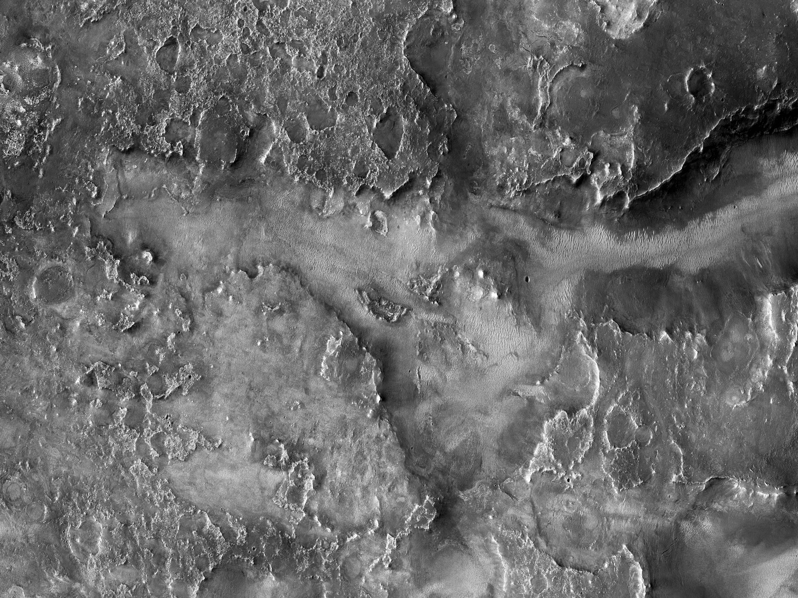A Channel Upstream of Jezero Crater