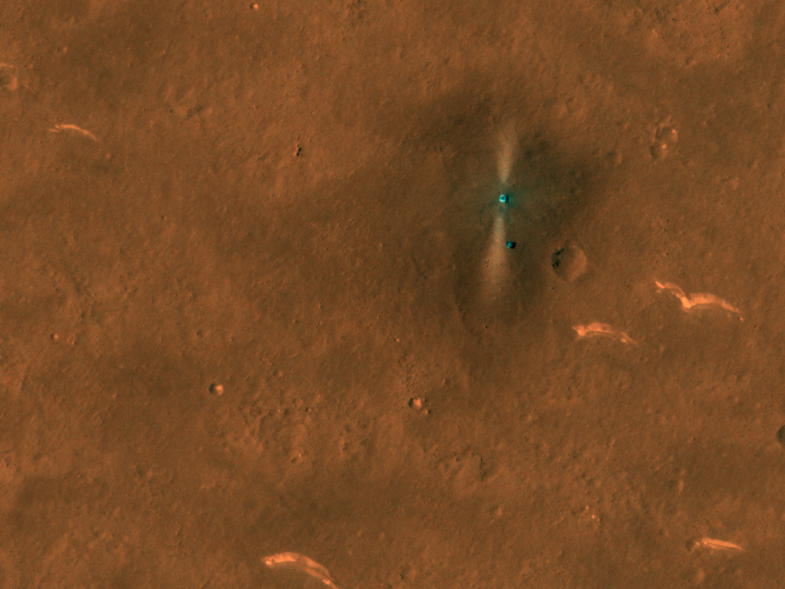 Tianwen-1 Lander and Zhurong Rover in Southern Utopia Planitia