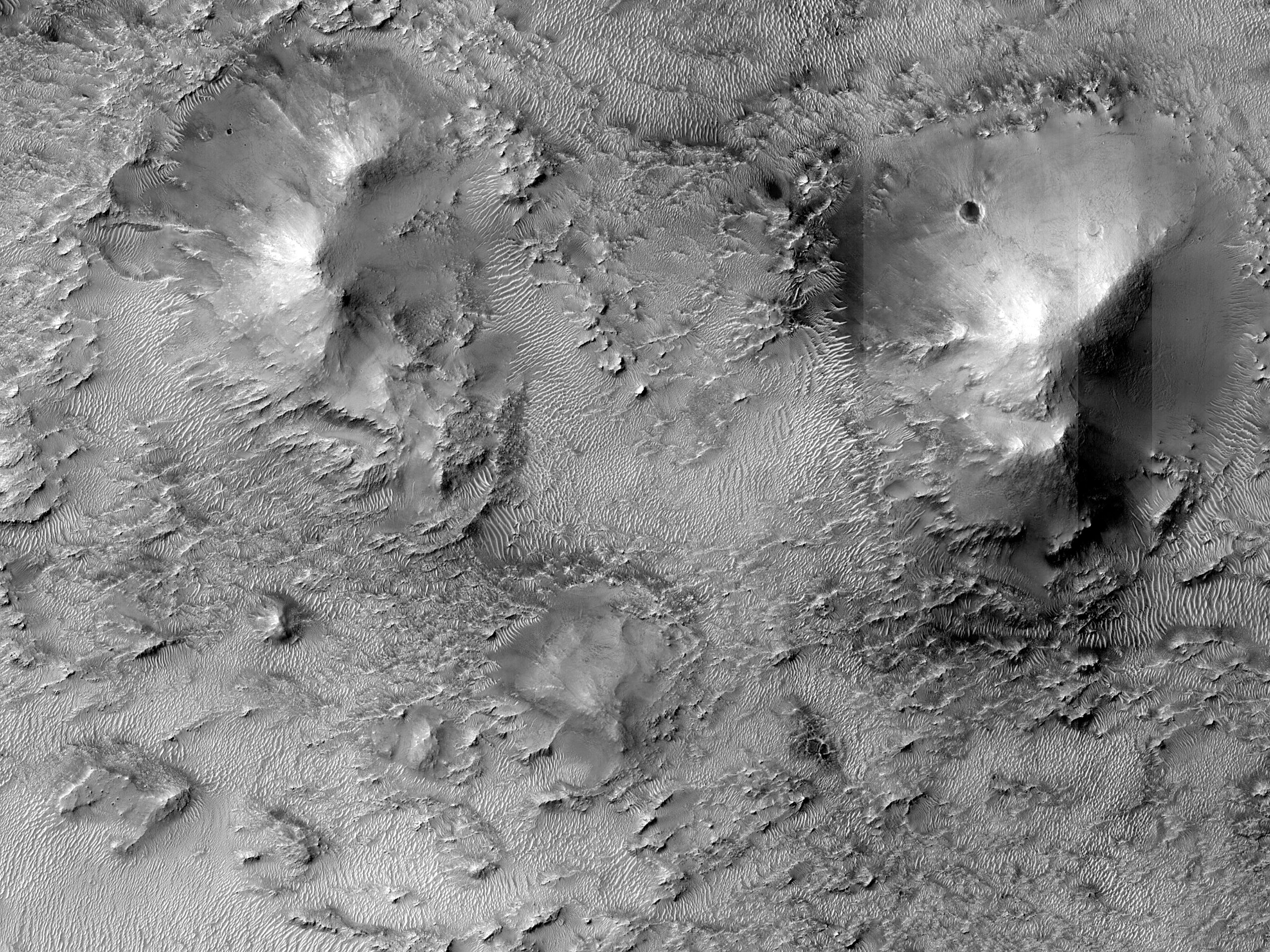 Mounds in Southern Jezero Crater