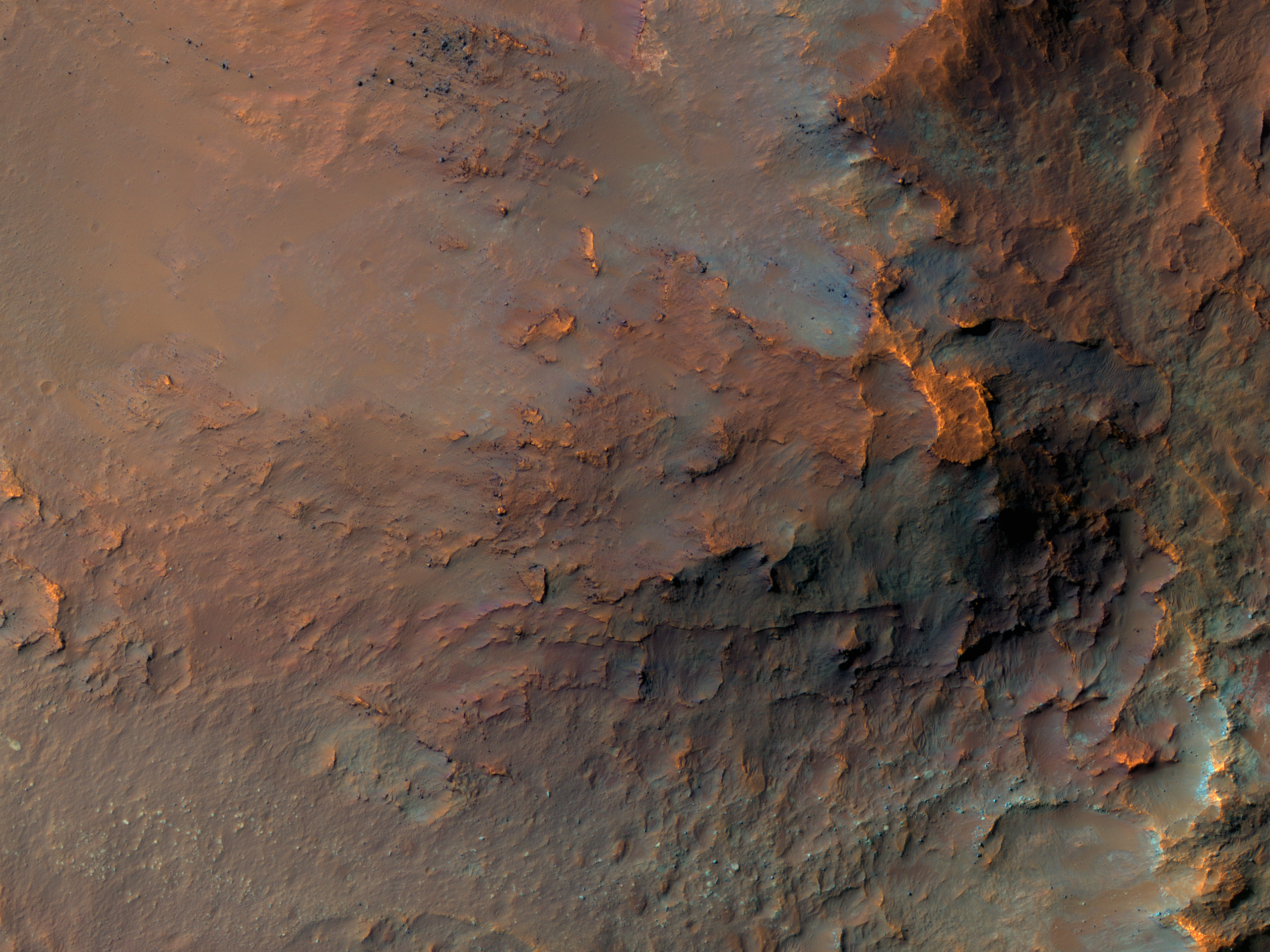 A Colorful Landslide in Eos Chasma