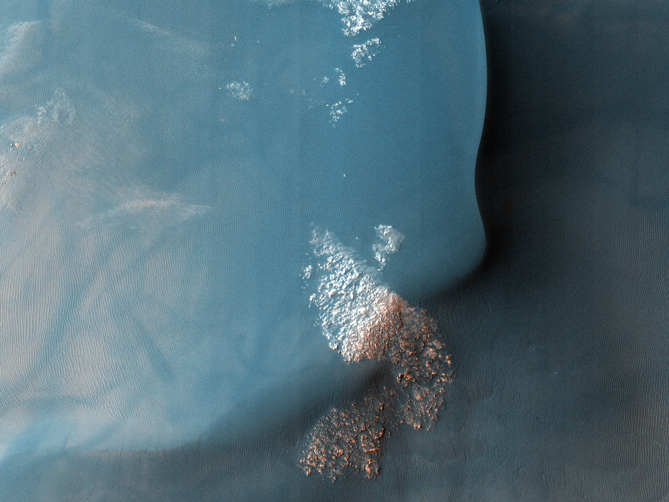 Southern Hemisphere Crater with a Dune Field