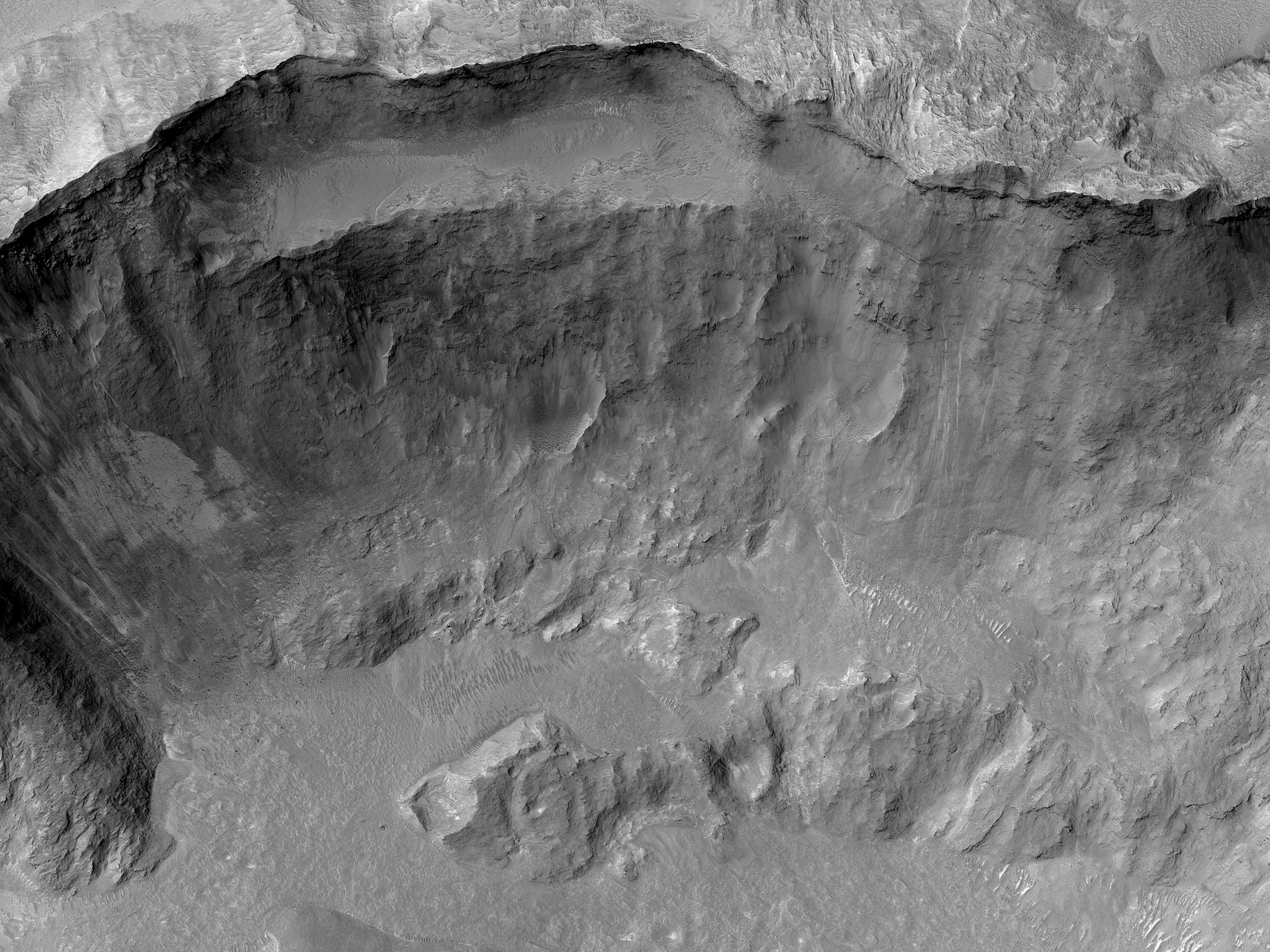 A Crater East of Mojave Crater
