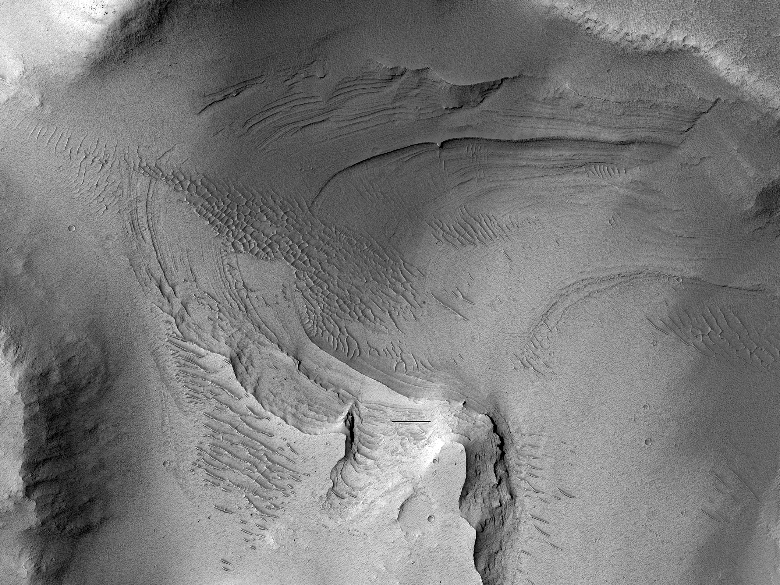 Layered Rock in Noctis Labyrinthus