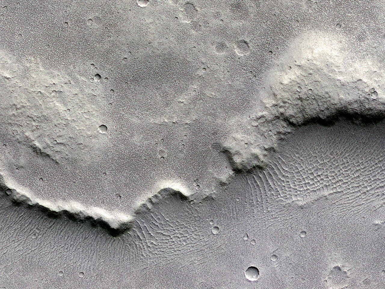 Wrinkles and Ridges in Lunae Planum