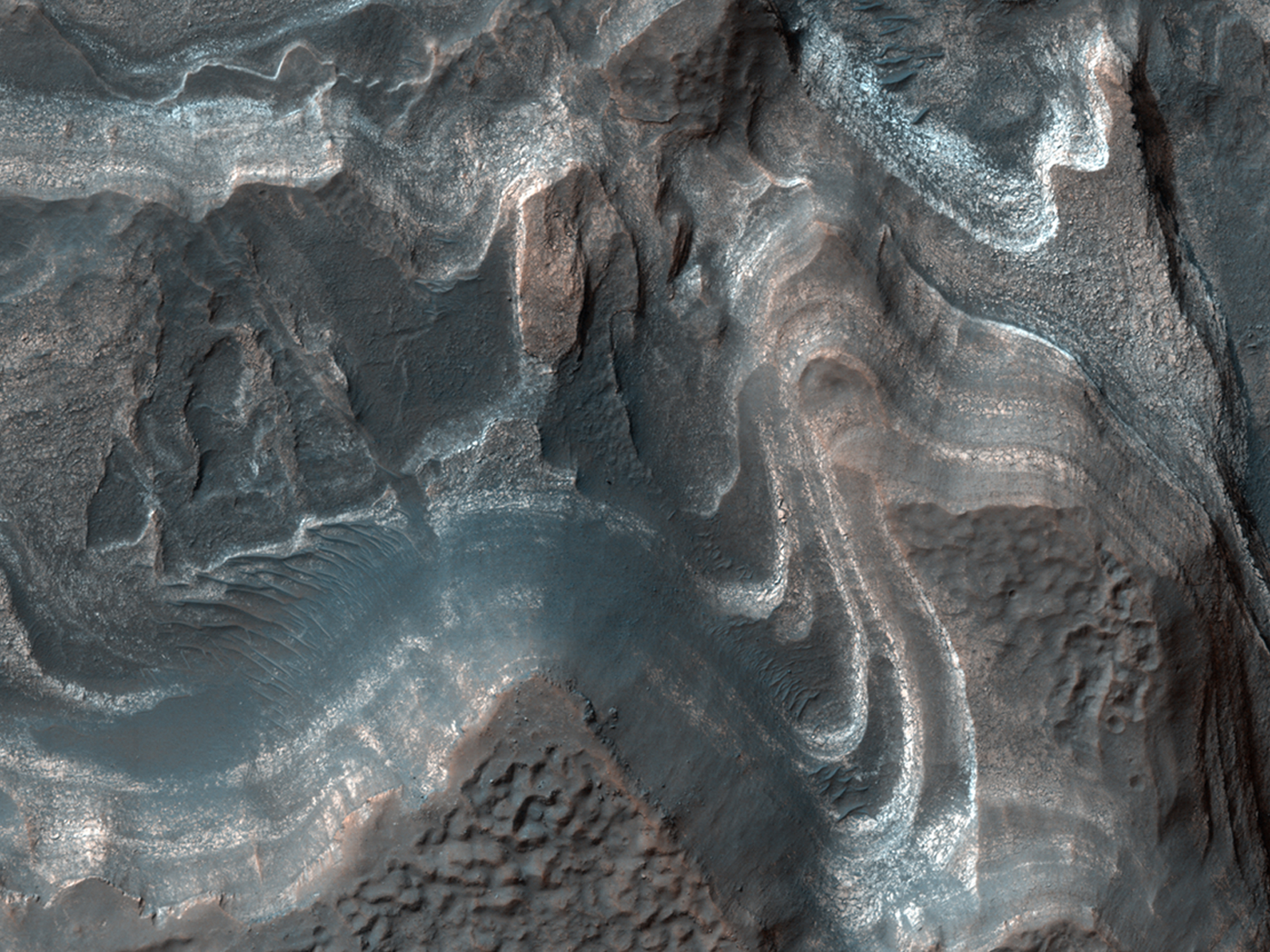 Layered Sediments in Hellas Planitia