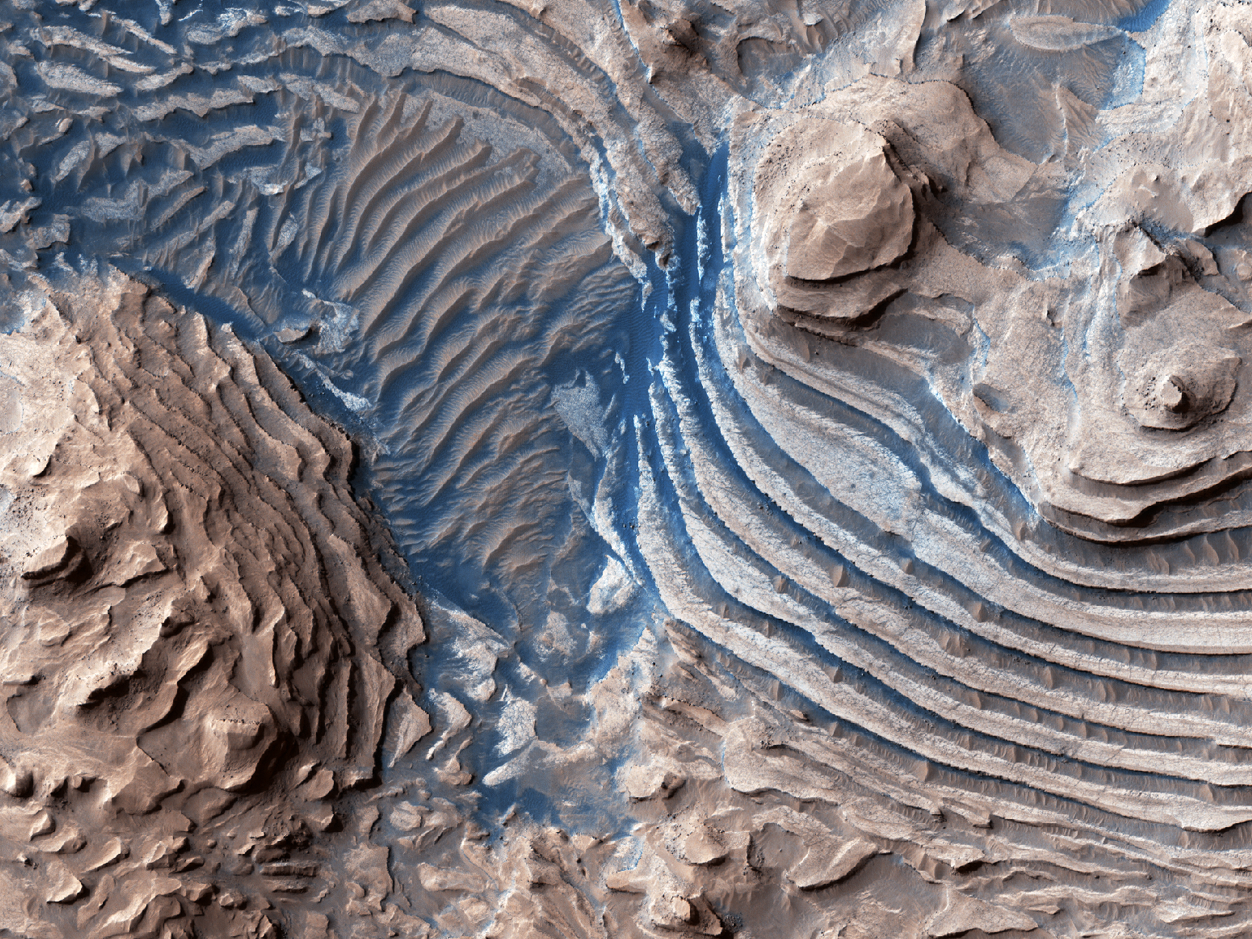 Stair-Stepped Mounds in Meridiani Planum