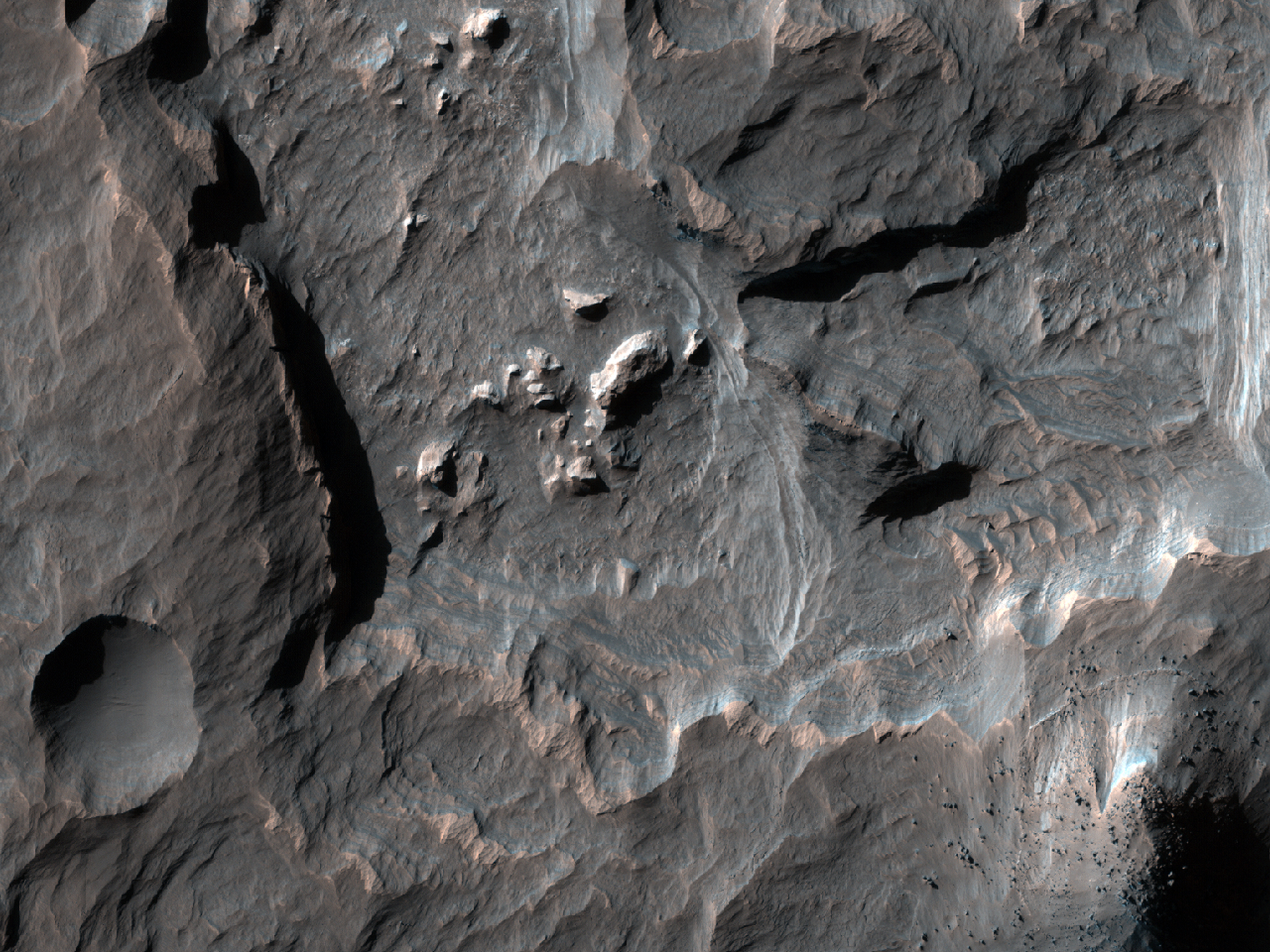 Sedimentary Layers in Columbus Crater