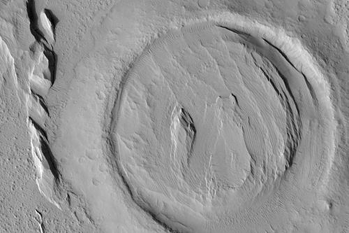 Bullseye Crater in Elysium Planitia