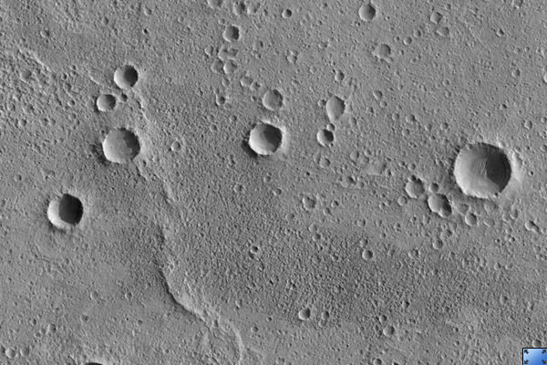 Ancient Cratered Surface Northeast of Martz Crater