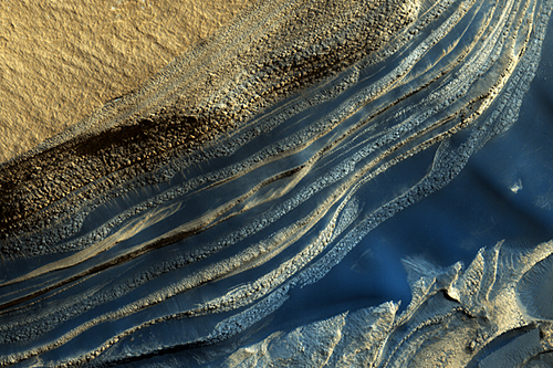 North Polar Layered Deposits in Head Scarp of Chasma Boreale