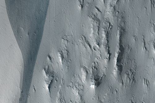 Dark Slope Streak with Streak-Generated Topography