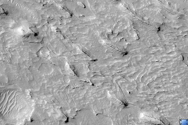 Yardangs in Medusae Fossae Formation