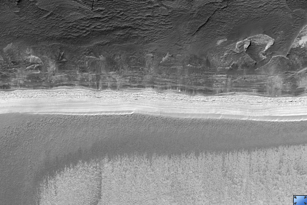 Steepest Scarp in North Polar Layered Deposits