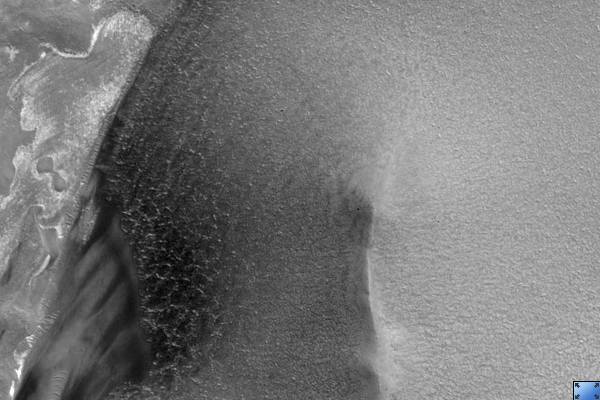 Crater in Circumpolar Dune Field