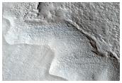 Lobate Debris Apron in Tempe Terra/Mareotis Fossae