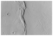 Floor of Youngest Collapse in Olympus Mons Caldera Complex