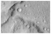 Intra-Crater Landslide Southeast of Isidis Basin