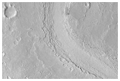Athabasca Valles Region with Complex Flow History