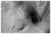 Knobby, Ridged Crater Floor Material
