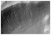 Crater with Gullies, As Seen in MOC Image E12-01712