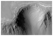 Contact Between Layering in Plains and Wallrock Near Ius Chasma