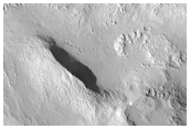 Tooting Crater West Rim and Ejecta
