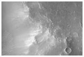Rosetta Orbiter Flyby Coordination Image in Tyrrhena Terra