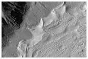 Monitoring of Volatiles and Gullies in a Crater