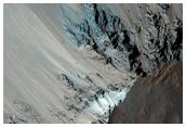 Uzboi Vallis Breach in Holden Crater Rim