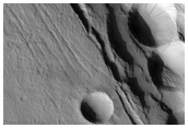 Pit Craters in Cyane Fossae