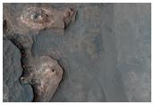 Contact Between Layers on Crater Floor