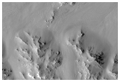 Southwestern Terraces of Hale Crater