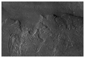 Flow Front Near Bond Crater