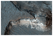 Possible Clay Deposits in Holden Crater