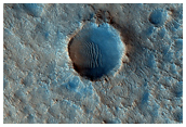 Proposed MSL Rover Landing Site Ellipse in Nili Fossae Crater