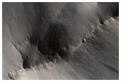 Triangular Avalanche Scar in Olympus Mons Aureole
