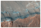 Gullies with Sharp Color Contrasts