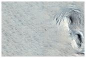 Medusae Fossae Formation Pit in Lunae Planum