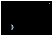 The Earth and Moon as Seen from Mars