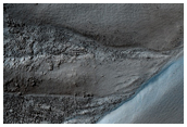 Cover 8 Gullies Previously Identified in Crater Seen in MOC Image M14-01460