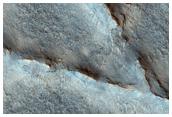Raised Curvilenear Ridges on Antoniadi Basin Floor