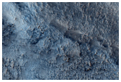 Crater Near Hellas Region with Potential Hydrated Material