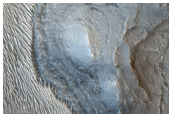 Ridged Material in Noctis Labyrinthus