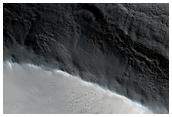 Slope Streaks North of Olympus Mons