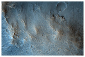 Intracrater Deposit in Sagan Crater