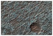 Rocky Layered Deposits of Floor of Ancient Crater