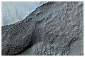 Terrace Region of 100-Kilometer Diameter Crater
