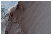 Layered Rock Outcrops in West Candor Chasma